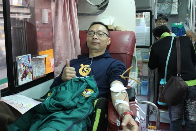 105年03月01日基隆郵局舉辦「捐熱血,獻愛心」活動