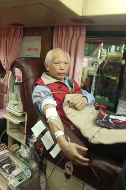 107年3月6日基隆郵局舉辦「捐熱血,郵愛心」活動