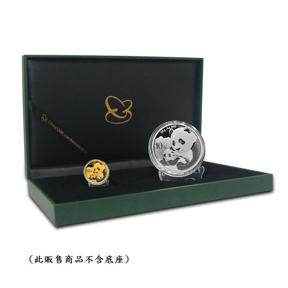 2019熊貓金銀幣(3公克金)