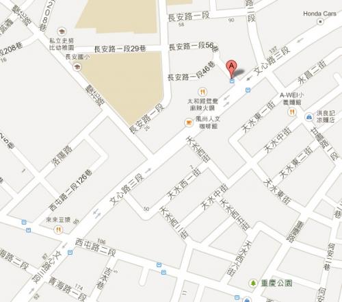 石井屋台中店位置圖