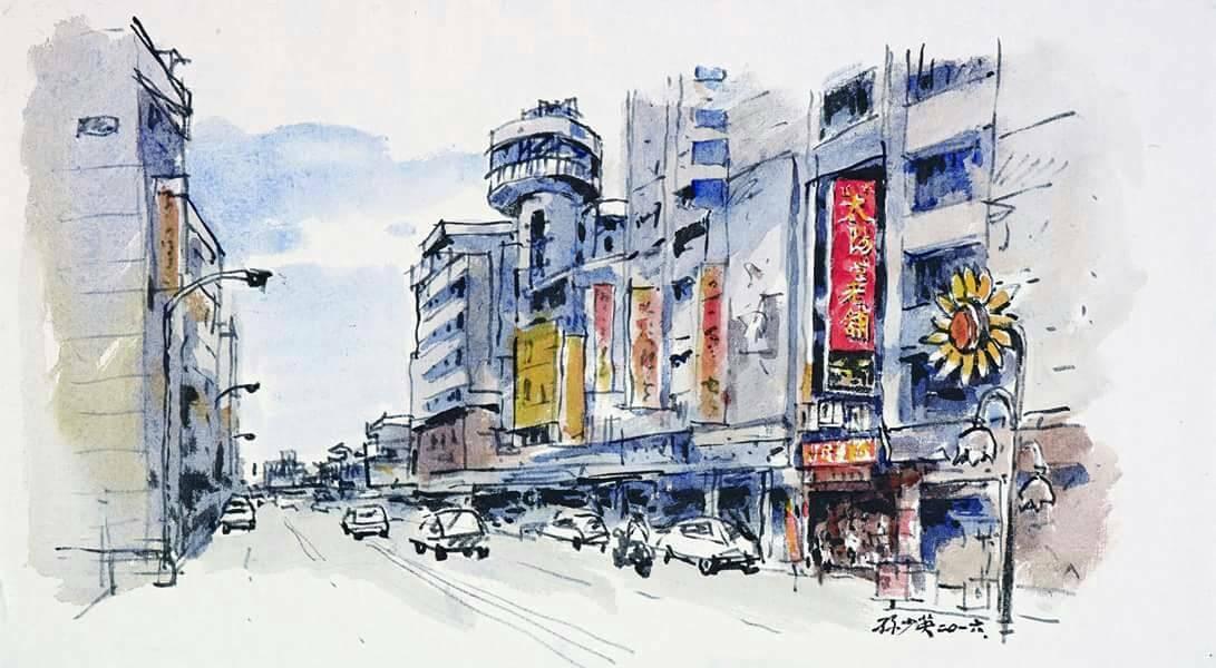 """臺中最著名的""""太陽堂""""老舖,日本媒體專程前來台灣報導。"""