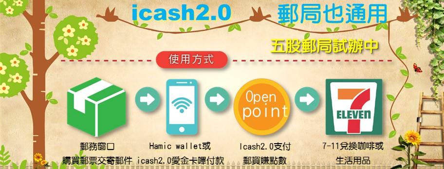 icash 2.0 郵局也通用