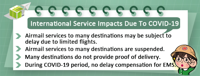 International service impact Due To COVID-19