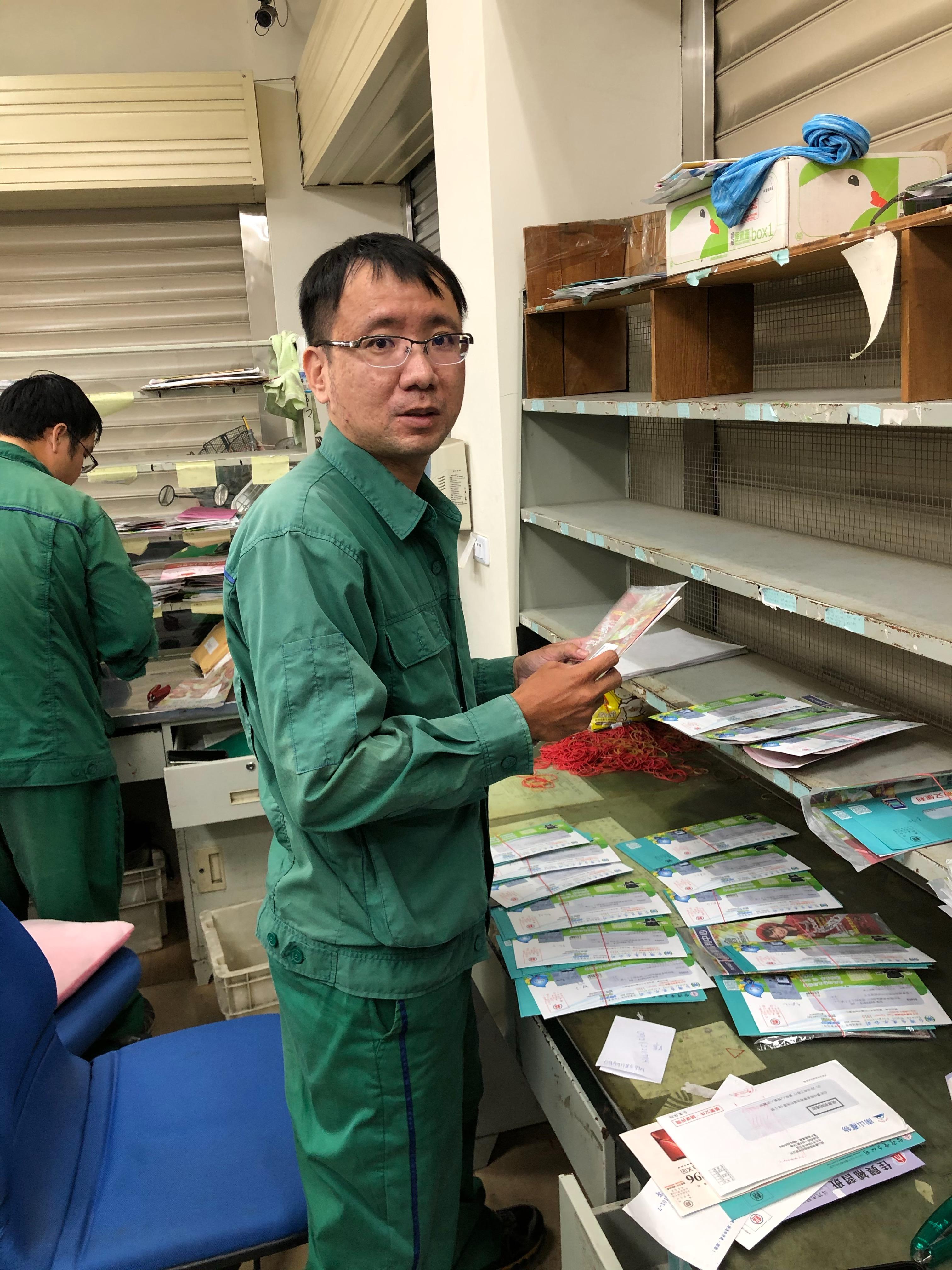 主動幫助新進同仁,讓新進同仁能很快適應投遞工作,並融入郵政大家庭。