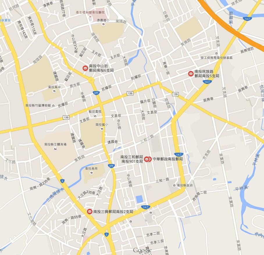鄰近郵局地圖