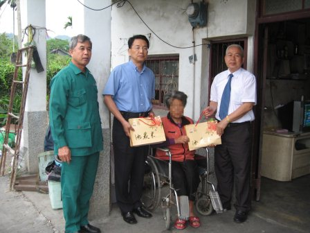 98年台東郵局關懷訪視年長獨居弱勢原住民老人活動