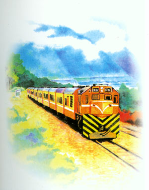 環島鐵路郵票的草圖