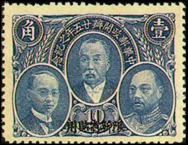 (SC1.4)Sinkiang Commemorative 1 25th Anniversary of Postal Service Commemorative Issue with Overprint Reading