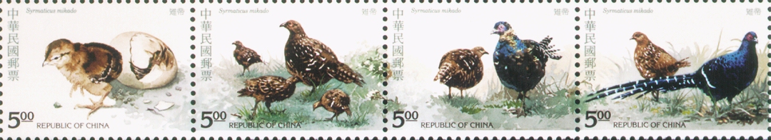 Special 328 Taiwan Bird- Pheasant- Postage Stamps (1993)