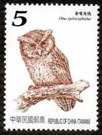 特572  臺灣貓頭鷹郵票(101年版)