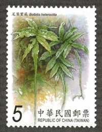 特575  蕨類郵票(101年版)